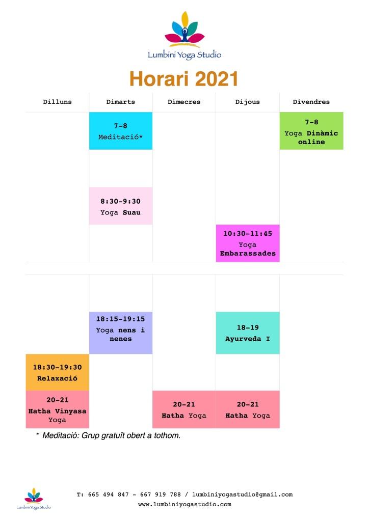 Horaris 2021